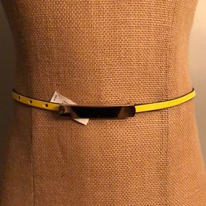 THE LIMITED Yellow Adjustable Belt